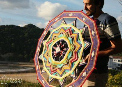 Mandala de lana Luis Moreno Proyecto Aloha