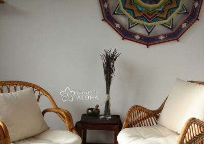 Mandala de lana decoracion espacio
