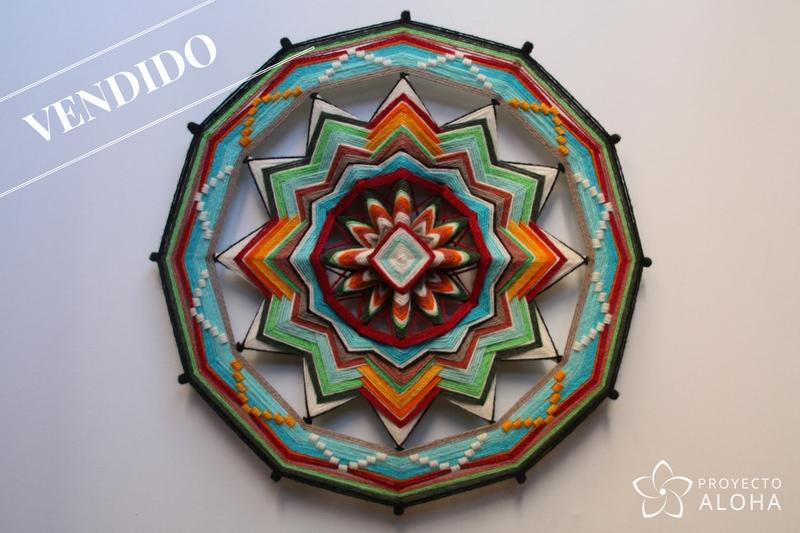 Mandala de lana, ojos de dios, Tzicuri, proyecto aloha