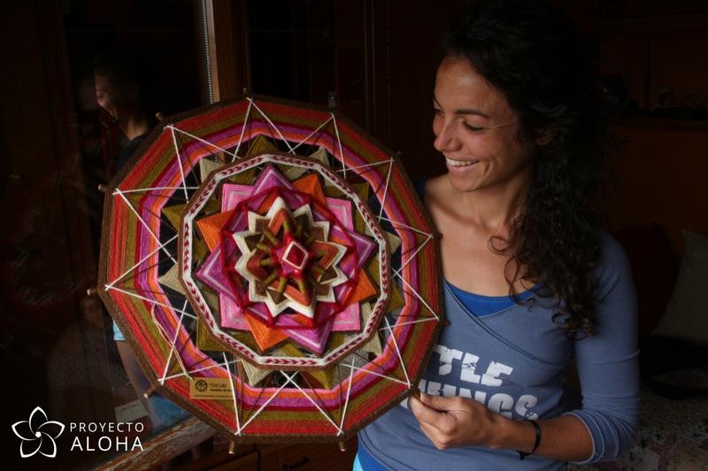 gratitut mandala de lana proyecto aloha