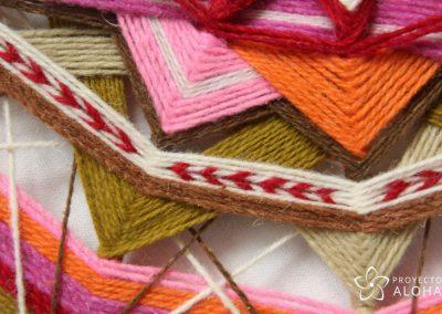 mandala de lana bordado