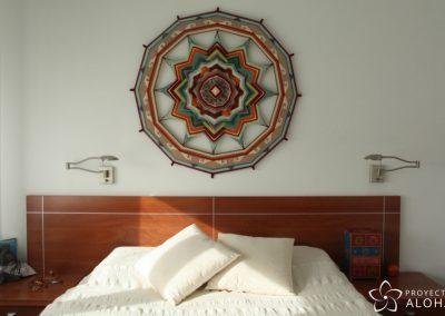 mandala de lana decoracion dormitorio