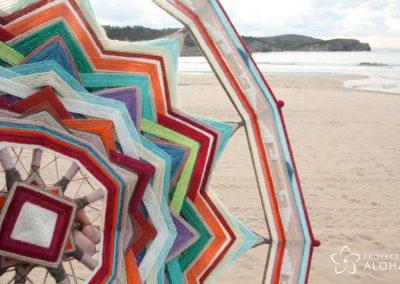 mandala de lana playa proyecto aloha