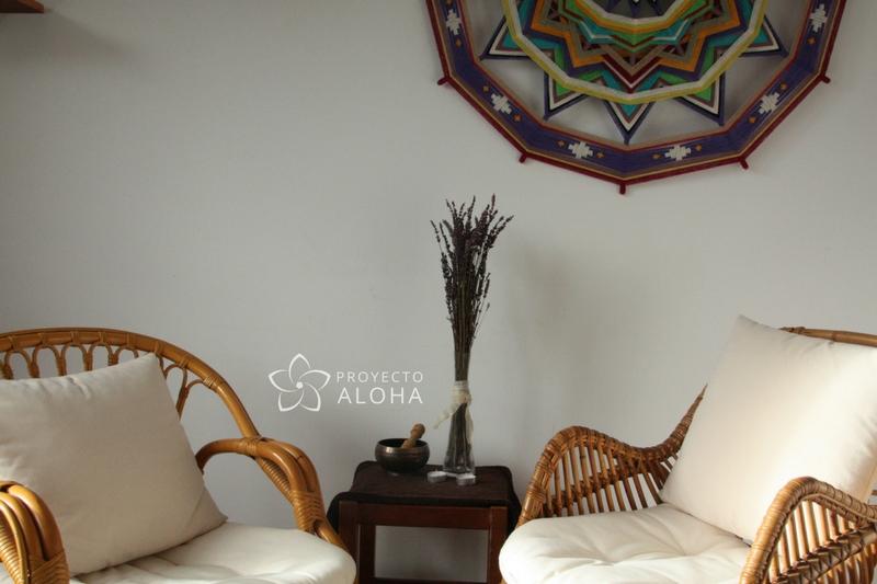 Proyecto Aloha, Bioneuroemoción, Arteterapia, Bilbao, Getxo, Mandala de lana, ojos de dios
