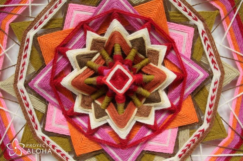 yarn mandala centro proyecto aloha